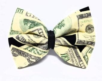 Show Me The Money! - Money Hair Bow - Money Dog Bow Tie - Money Cat Bow Tie - Dollar Hair Bow - Dollar Dog Bow Tie - Dollar Cat Bow Tie