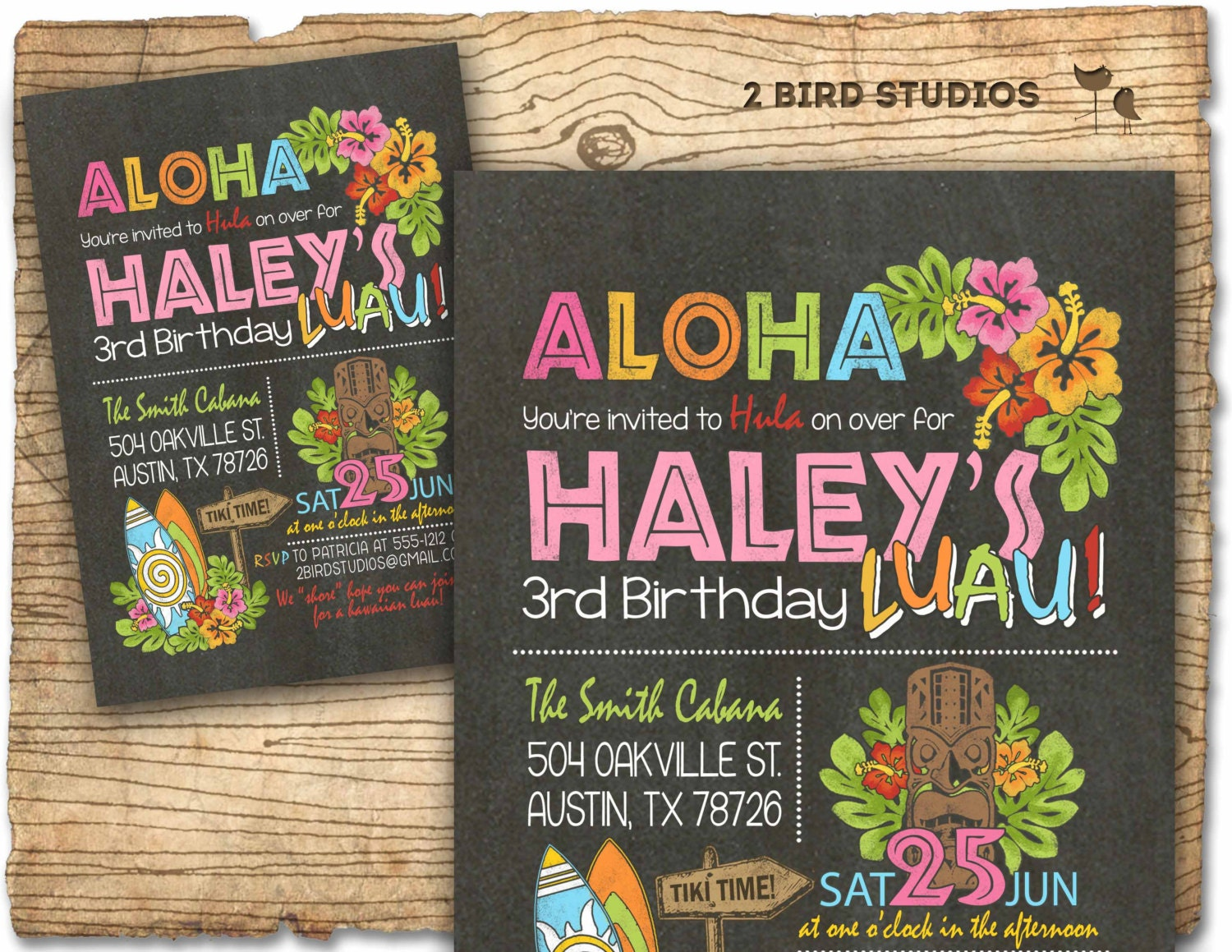 Hawaiian Birthday Invitation Luau