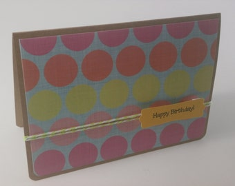 Happy Birthday Card, Polka Dot Birthday Card