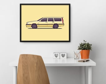 Volvo 850 T-5R Car Poster Art Print