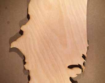 United States of America Wooden Cutouts - Small Shapes for Projects or Other Use