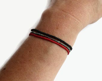 Gothic bracelet, stretch bracelet, minimalist jewelry, gift for mom, dainty bracelet, bohemian bracelet, everyday jewelry, bracelet set