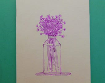 Fleurs sauvages - dessin, fleurs