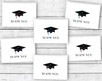 Graduation Cap Thank You Cards - 24 Cards & Envelopes