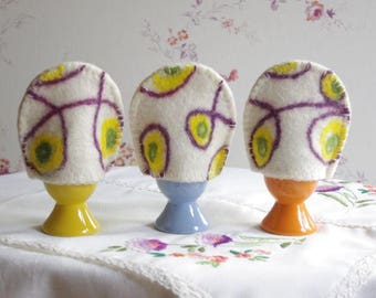 Egg cozy, wool egg cozy, felted egg hats, set of 3 egg cozy, easter egg hats, easter egg cozy, easter deccorations, spring accessories