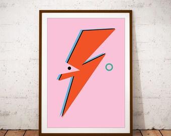 Ziggy Stardust Abstract Illustration. David Bowie