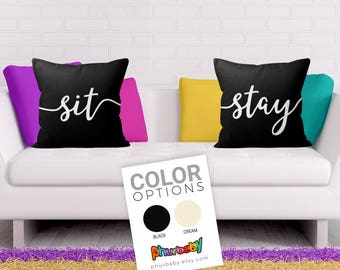 Sit & Stay Pillows   Housewarming Gift   Pillow   Cushion   Outdoor Pillow   Sofa Pillow   Pet Pillow   Cute Pillow   Dog Pillow   Throw