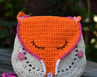 Crochet pattern - Fox crochet purse by VendulkaM - crochet handbag/ bag pattern/ digital, DIY, pdf