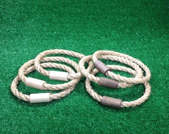 SALE: 6 Rope Ring Toss Throwing Rings - Rings Only - Ready to Ship