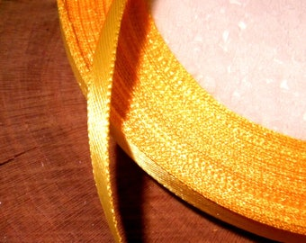 22 M satin ribbon 6 mm in 22 - yellow orange SA4 reel