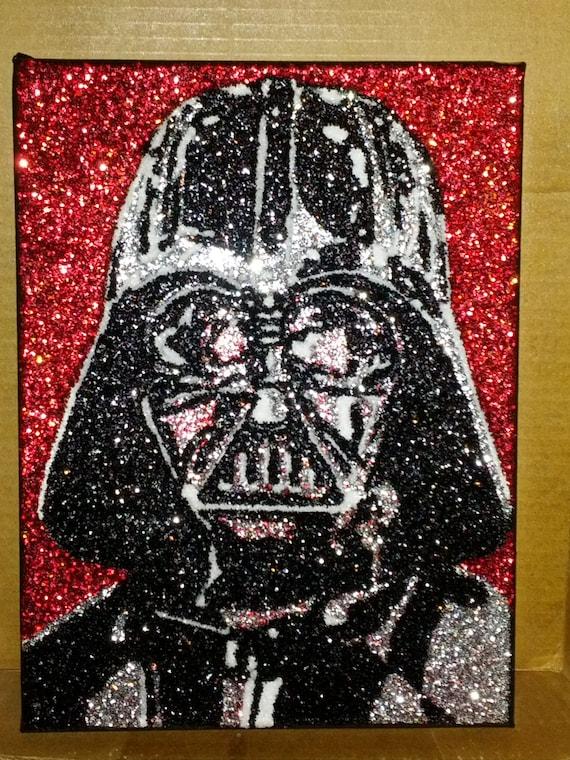 Items Similar To Darth Vader Glitter Art 9x12 On Etsy