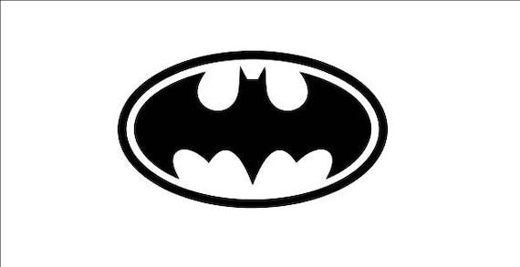 Batman Logo Sticker Outline Decal Window Decal Batman