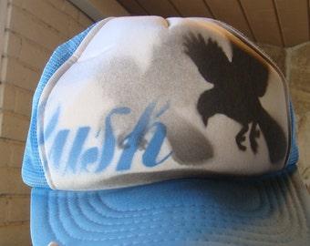AIRBRUSHED TRUCKER HAT mesh baseball hat lush drunk eagle