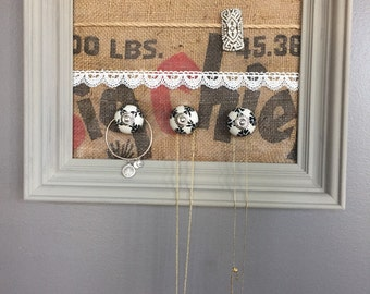 A beautiful frame to display all of your Earrings, necklaces, bracelets, brooches, watches.