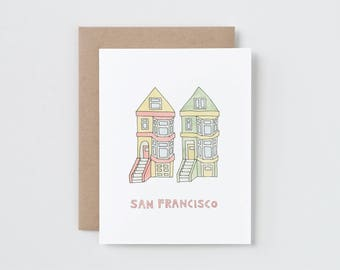 San Francisco Painted Ladies Card