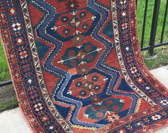4' x 6' Antique Caucasian Rug