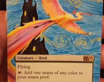 MTG alter Birds of Paradise, Van Gogh,  Starry Night