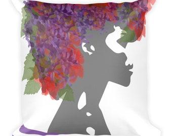 Flower girl art Square Pillow