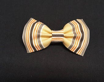 Golden Brown Stripes Bow Ties