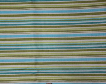 Riley Blake Designs Happier Stripes in blue by Denna Rutter (C5506)