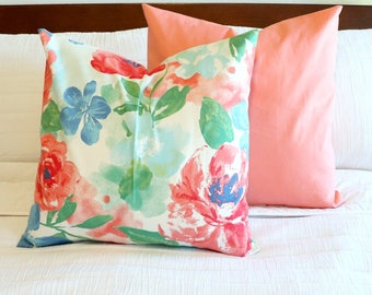 18 inch envelope pillow cover - Dazzling Opal - floral pillow