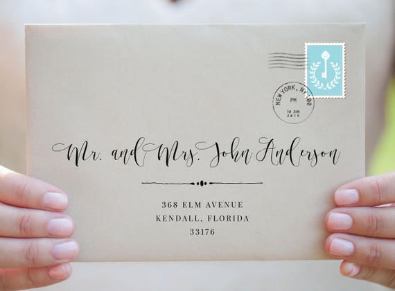Envelope Template Envelope Address Template Wedding Envelope