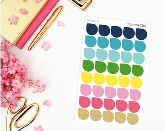 Large teardrop stickers for Simplified Planner