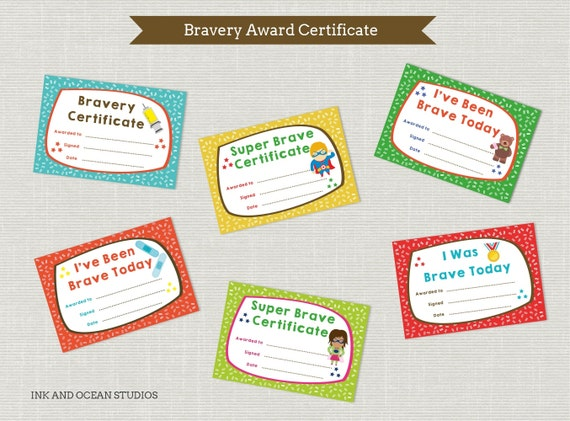 Printable teacher doctors dentist bravery certificate awards for printable teacher doctors dentist bravery certificate awards for class school home school doctores surgery from inkandocean on etsy studio yelopaper Images
