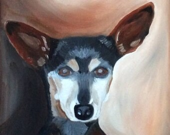 Custom made dog portrait