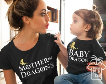Game of thrones shirt mother of dragons shirt game of thrones gift game of thrones t shirt mother and baby shirts mother and daughter shirts