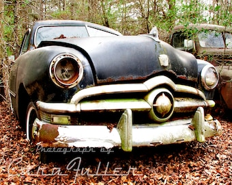 1950 Ford Sedan in the Woods Photograph