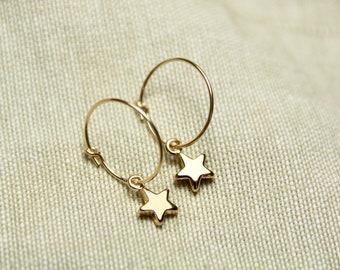 Star earrings / star earrings