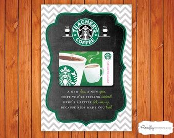 Starbucks Coffee First Day of School Teacher Gift!