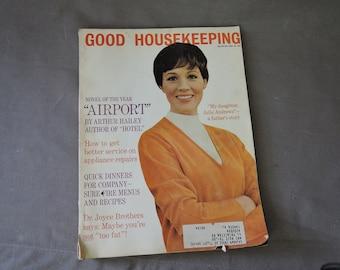 Vintage 1960s Good Housekeeping Magazine, March 1968 Julie Andrews