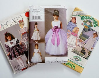 Destash LOT Childrens Sewing Patterns, Dresses, Multi Size 2, 3 (some include Size 4), McCalls 3839, Butterick 3086, Vogue 7819