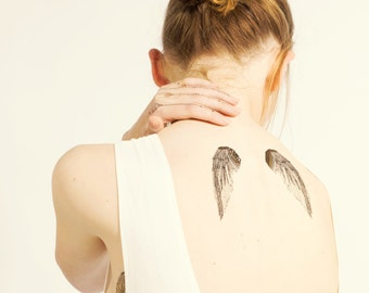 Wings Metallic Gold Temporary Tattoos PAPERSELF Tattoo Me