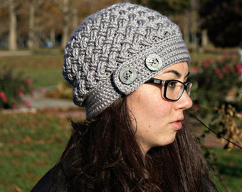 Crochet Pattern Slouchy Hat Beanie Dream Weaver PDF 16-277