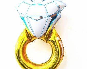 Giant DIAMOND RING Gold foil balloon  34