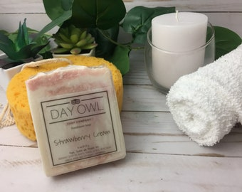 Strawberry Cream Soap || Handmade Cold Process Soap ||