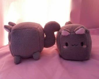 Soft plush cat cubes
