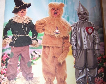 6d23ef758 Simplicity 4133 Wizard Of Oz Child Sz 3-8 Lion Scarecrow And TinMan Costume  Authentically Designed For Wonderful Fun And Fantasy Sc 1 St Etsy