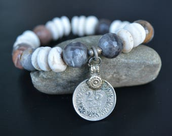 Naga + Labradorite + Coin