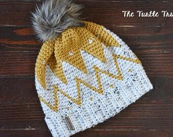 Tribal Beanie, Adult Tribal Crochet Hat
