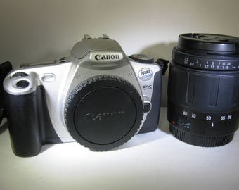 Canon EOS Rebel 2000 Student SLR Film Camera with Tamron Aspherical 28-80mm f3.5-5.6 Lens
