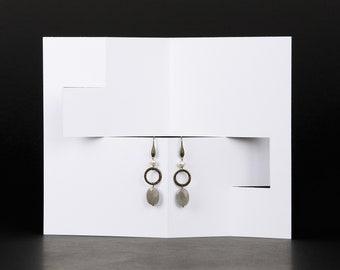 Oval Tablet Earrings