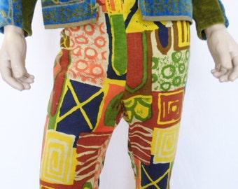 Vintage 1960's  Men's M Van Heusen PsYcHeDeLiC ULtrA MoD HiPPiE Pants Surfer Hawaiian Summer of Love M