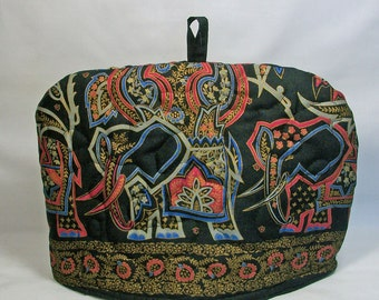Elephants - Quilted Domed Tea Cozy with Trivet