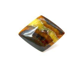 Simbircite with pyrite natural stone cabochon  34 х 27 х 5 mm