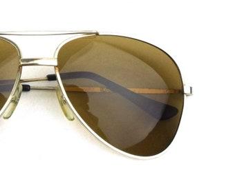 vintage 80s sunglasses NOS aviator sunglasses gold metal retro mens sun glasses sunglasses women oversized polaroid opti-ray