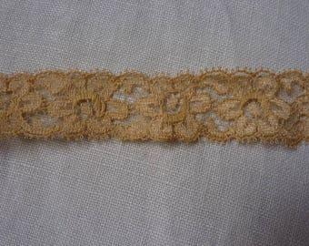 Mecanic lace seventies, beige lace vintage, 2 cm width